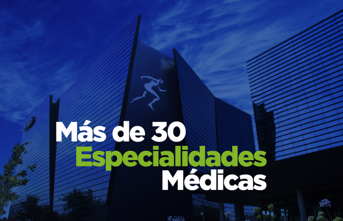 Clinica MEDS, 30 especialidades médicas